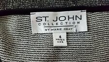 St John Collection by Marie Gray Womens Black Skirt Size 4 Party Holiday Glitter