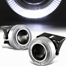 "3"" White Angel Eye Halo Projector Glass Lens LED DRL Round Fog Light Universal 5"
