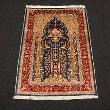 Seidenteppich Hereke 95 x 70 cm Orient Teppich Lebensbaum Wandteppich Silk Rug
