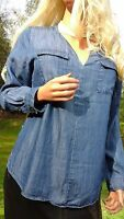 SOFT SURROUNDINGS NEW TENCEL SZ MED PULLOVER CASUAL TUNIC  SHIRT TOP 8 10