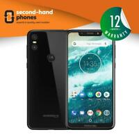 "Motorola One XT1941 (2018) 5.9"" Unlocked Android Smartphone Black/ White"
