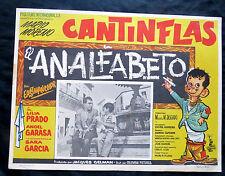 """EL ANALFABETO"" MARIO MORENO CANTINFLAS LILIA PRADO NEAR MINT LOBBY CARD 1960"