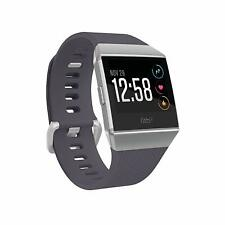 Fitbit Ionic GPS HR Smartwatch - Blue-Gray/Silver Small+Large Bands Included