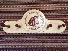 MISC WSU COAT RACK WOODEN MAN CAVE WASHINGTON STATE COUGARS VERY GOOD COND