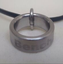 BNIB mens boys BENCH ring chain leather string necklace pendant BCJ0124A216/959