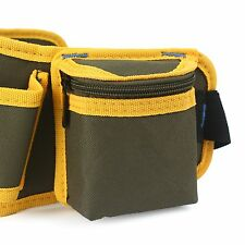 Hardware Mechanic's Canvas Tool Bag Belt Utility Kit Pocket Pouch Organizer