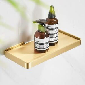 Wall Brass Storage Holders Racks Bathroom Shelves Toilet Rack Shelf Brushed Gold