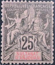 Anjouan Scott 10 MH OG Mint Hinged Original Gum 1892-1907
