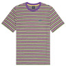HUF Mens S/S Knit Top Shirt ALLEN Triple Triangle Striped Embroidered M-XL $42 b