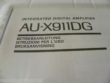 Sansui  AU-X911DG Owner's Manual  Operating Instructions Istruzioni New
