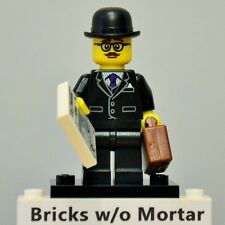 New Genuine LEGO Businessman Minifig with Briefcase and Newspaper Series 8 8833