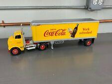 "Ertl Coca Cola 1:25 GMC Tractor Trailer ""Work Refreshed"" RARE"