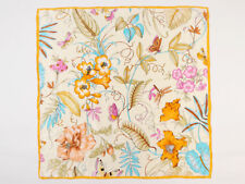 "Large Square Silk Scarf 36""x36"" (90x90cm) Gold Flower SBD019"