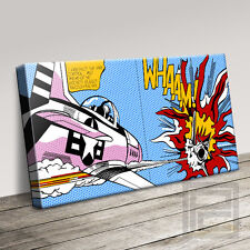 CLASSIC 'WHAAM' ROY LICHTENSTEIN STYLE ICONIC CANVAS PRINT PICTURE Art Williams