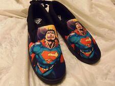 """NWT - Men's DC Comics """"SUPERMAN"""" Canvas Slip On Deck Shoes SIZE - 8"""