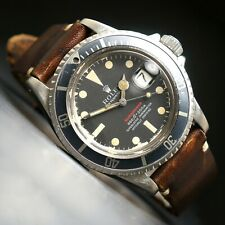 1970 Rolex 1680 Red Submariner Faded Insert, Mark IV Dial, All Original, NO RES!