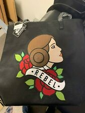 Loungefly Star Wars PRINCESS LEIA Rebel tattoo oversize tote bag never used