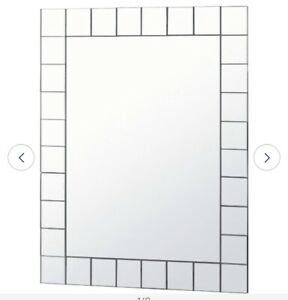 SIilver  Mosaic Rectangular Bathroom Mirror