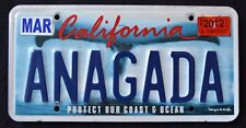 """CALIFORNIA """" WILDLIFE WHALE - COAST """" DISCONTINUED """" CA Specialty License Plate"""