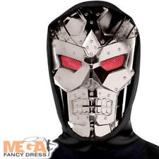 Dark Robot Mask Adults Fancy Dress Halloween Horror Adults Costume Accessory New