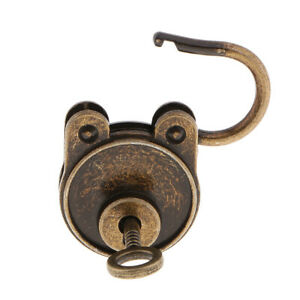 Old Style Padlocks Latch for Treasure Chest Drawer Suitcase Door Collectible