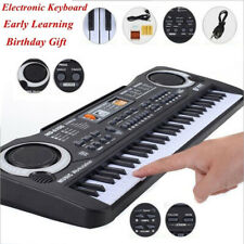Portable Electronic Keyboard Piano 61 Key Organ With Microphone For Kids/Adults