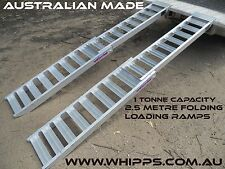 1 Tonne Capacity 2.5 Metre Folding ATV Loading Ramps Australian Made