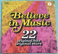 Believe In Music K-Tel Compilation 1972 Original Vinyl Album  Eric Clapton, Cher
