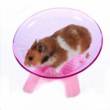 Pet Hamster Flying Saucer Exercise Wheel Hamster Mouse Running Disc Toy Cage
