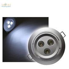 3 SET downlights LED 3 x 3W CREE POTENZA LED BIANCO