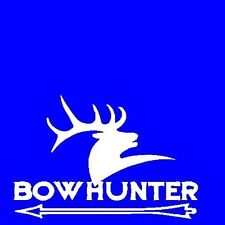 "BOWHUNTER Vinyl STICKER DECAL Image 6"" X 4""  MANY COLORS WINDOW BUMPER STICKER"