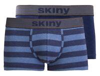 2er Pack SKINY Boxershorts, Retro Pant, Boxer Gr. L/6 blau + blau  gestreift