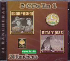Martin y Malena Y Rita Y Jose 24 Rancheras  2 cds en 1 CD New Nuevo sealed
