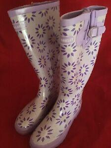 Laura Ashley Garden Elegance Wellington Roundswood Rubber Size 4 Euro 37