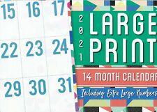 2021 Large Print 14 Month Calendar