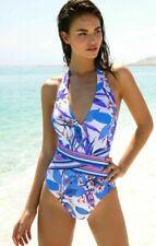 Gottex oriental blossom swimsuit S swimming costume NEW one piece plunge ladies