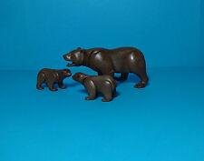 Playmobil Outdoor~Kodiak Bears, brown Grizzly Bears / braune Bären (7225)