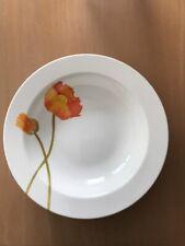 Villeroy & Boch Iceland Poppy Rimmed Salad - Cereal - Soup - Plates - Set of 5