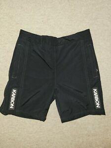 Karbon Ski Race Training Shorts fleece Lined Zip sides Padded ,black ,Size M