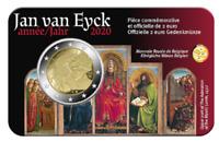 Coincard 2 Euros Commémorative Belgique Van Eyck 2020 BU