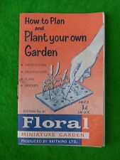 BRITAINS FLORAL & GARDEN, LEAFLET, HOW TO PLAN YOUR GARDEN