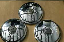 """3 Piece MG Hubcap Wheel Cover  Dog Dishes 8 1/2"""""""