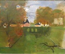 Michel RODDE (1913Gard-2009) huile/toile Chateau de Montceau-les-Meaux