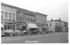 Stanton MI Bank~Stebbins~Grocery Store~Gone~Restaurant: Coca-Cola Dot RPPC 1940s