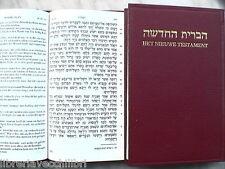 NUOVO TESTAMENTO EBRAICO OLANDESE BIBBIA Nieuwe Testament Dutch Hebrew Ebraica e