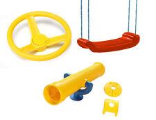 Playground RED SWING STEERING WHEEL YELLOW TELESCOPE Tree Cubby House PLAYPAC3