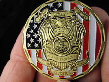 "St Michael Police Officer Badge Challenge Coin ""Honor Our Fallen Officers Coin """