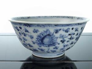 Ming Chinese Porcelain Bowl with blue underglaze decoration