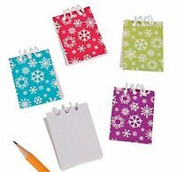 Pack of 12 - Mini Snowflake Spiral Notebooks - Christmas Frozen Stocking Fillers