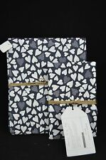 Pottery Barn Teen Duvet Cover Happy Hearts Twin & 1 Std Sham Black White #112